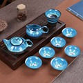 Jun фарфоровый рыбный чайный набор керамический чайник керамическая чайная чашка рыба китайский чайный набор кунг-фу посуда для напитков