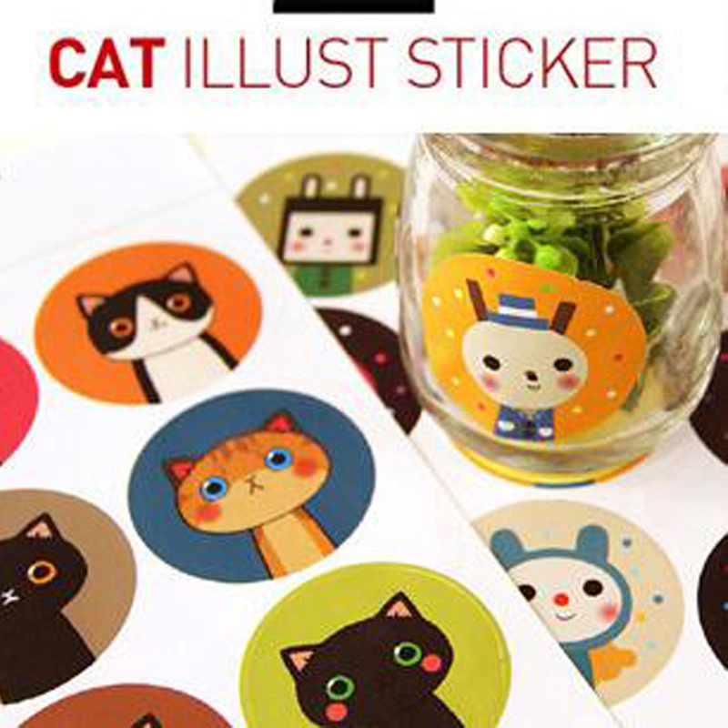 180pcs/pack Labels Stickers Scrapbook Masking Sticky Illust Sticker Sealing Paste Decal 1 sheet = 9pcs labels Material Escolar address adhesive stickers labels 100 100mm 500 sheets thermal papers for labeling and sealing marks wholesale with a good price