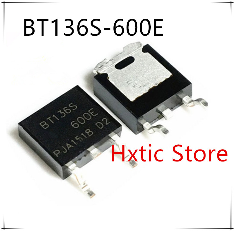 NEW 10PCS/LOT 10pcs/lot BT136S-600E TO-252 TRIAC SENS GATE 600V 4A DPAK BT136S-600 BT136S 600E
