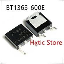 NEW 10PCS LOT BT136S 600E TO 252 TRIAC SENS GATE 600V 4A DPAK BT136S 600 BT136S
