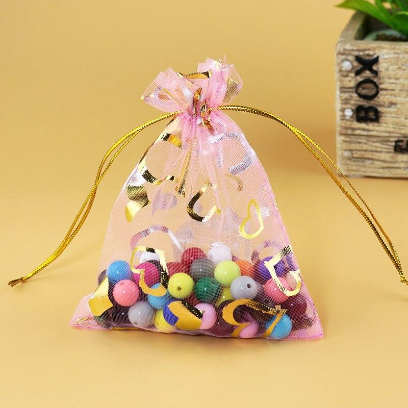 100 Rose Style Vintage Mariage Faveur Bonbons bocal sacs-cadeaux de Noël Gâteaux
