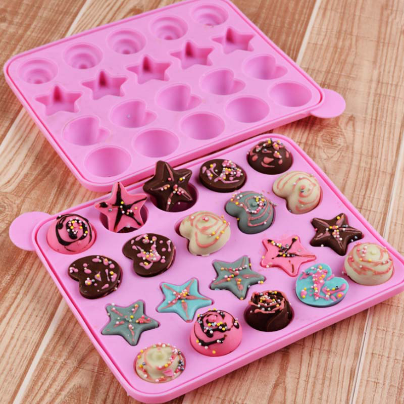 new special design 20 holes silicone cake pop molds set with 20 free sticks silicone 002 on. Black Bedroom Furniture Sets. Home Design Ideas