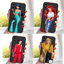 Princess For iPhone X XR XS Max 5 5S SE 6 6S 7 8 One Plus 5 5T 7 Pro Oneplus 6 6Tphone Case Cover phone Funda Coque Etui luxury