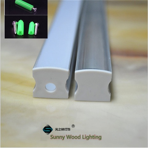 polegada 1 5 30 pcs lote 40 m pc led perfil de aluminio diodo emissor