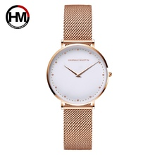 Fashion Women Watches New Top Brand Luxury Rose Gold Japan  Stainless Steel Waterproof Wrist Watches montre femme orologio donna цена