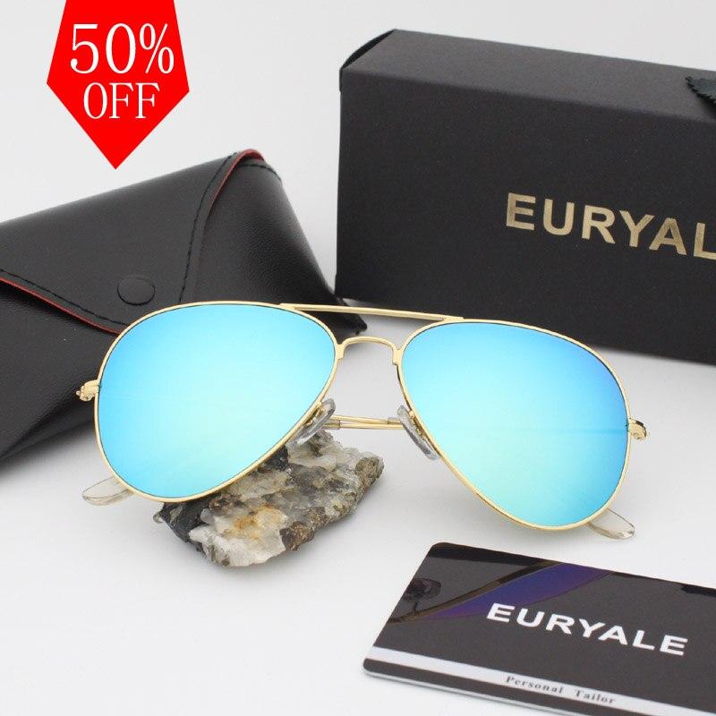 2018 Top qualité lentille En Verre 3025 marque designer lunettes de soleil femmes/hommes vintage aviation lunettes nouveau nuances oculos de sol