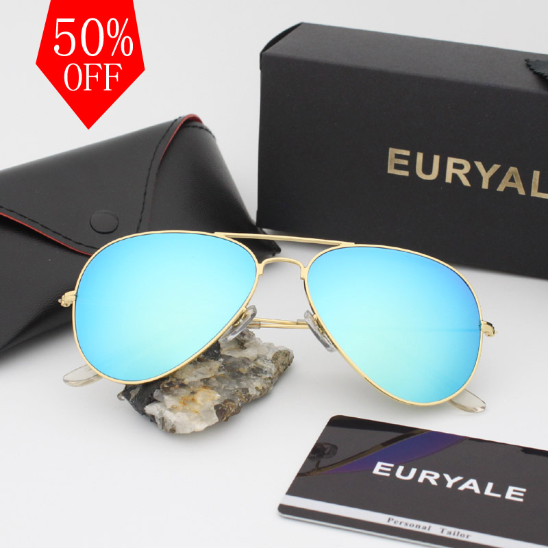 2018 Top quality Glass lens 3025 brand designer sunglasses women/men vintage aviation glasses new shades oculos de sol