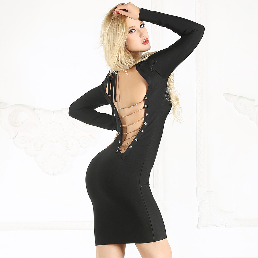 f7d0052217a Detail Feedback Questions about Bodycon Sexy Dress With Open Back ...