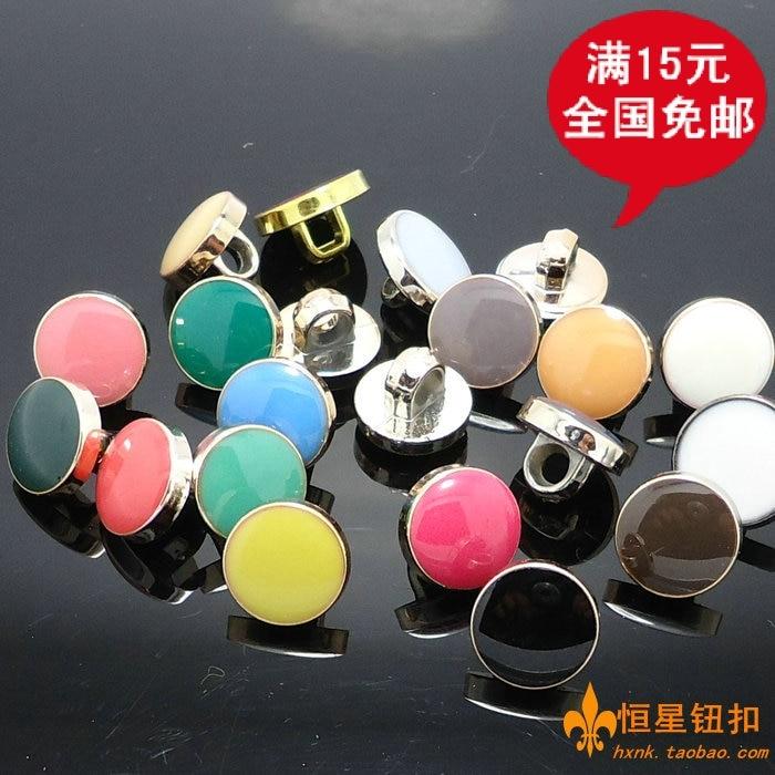 Beautiful super glue dot buttons quality crystal buckle chiffon material shirt resin button diy accessary, 10mm, 100 pcs per lot