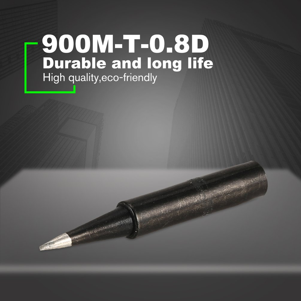 10PCS 900M-T-0.8D Solder Soldering Iron Tip Replacement Rework Station Tool Lead-free Welding Cone Head Bits Electric Repair