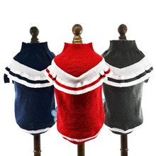 Red /Gray/Dark Blue Pet Dog Sweater Cat Jumper Acrylic Knit For Small dog Puppy Free shipping