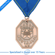 china factory Customized Antique brass  Medal cheap custom old color medals with ribbons