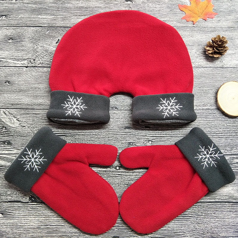 3pcs/set Couple Lovers Gloves Polar Fleece Sweethearts Thicken Winter Warm Lining Glove Christmas Gift Lovers Mittens AGL012