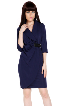 New Women Winter Dress Elegant Spring Autumn Dress Wrap Ruched Tunic Party Sexy Evening Pencil Dresses Plus Size M-XXL