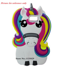 Huawei Y635 Cover 3D Cartoon font b Unicorn b font Rainbow Horse Cute Soft Rubber Silicon
