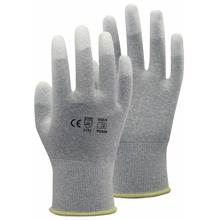 Carbon Nylon Lining ESD Safe Glove  Anti static PU Finger Top Coated Work Gloves цена 2017