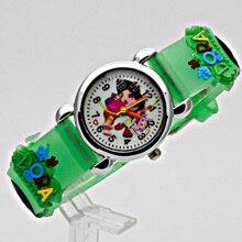 Модные девушки женщины дамы кристалл часы Дети мультфильм силикон спортивные часы Детские часы коль saati montr