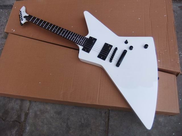 Wholesale ES P Custom Explorer Model Electric guitar Mahogany best quality in white 110307 wholesale new arrival cnbald custom explorer electric guitar solid mahogany body in natural 160106