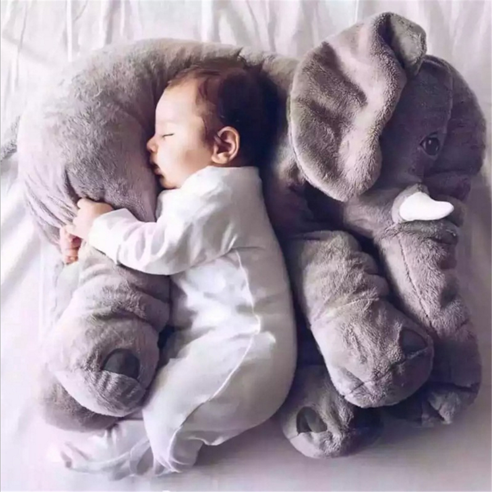 children sleep Big Long Nose Elephant Lumbar pillow birthday gift INS Soft Plush toy Accompanying Stuffed Animal baby doll 1pcs 60cm ins elephant soft pillows baby sleeping pillow stuffed elephant comforter plush animal cushion best gift for kids