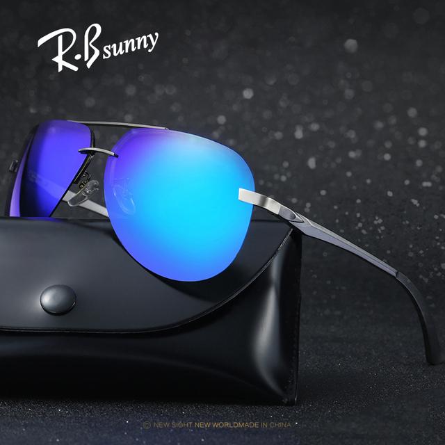 De alumínio e magnésio Polarizada óculos de sol Da Moda Clássico Das Mulheres Dos Homens Marca óculos HD de alta qualidade Nenhuma fronteira filme Colorido óculos de sol