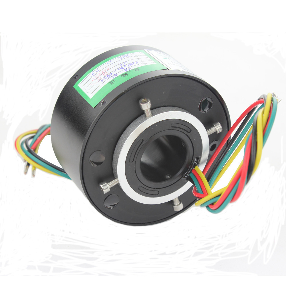 Rotary union joint slip ring 10A/6 circuits of bore size 30mm ...
