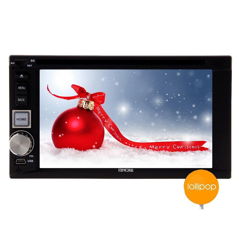 Double Din Android 5.1.1 Car Stereo In Dash GPS Navigation Car DVD gps Player Bluetooth AM/FM Radio Multimedia WiFi 1080P Video
