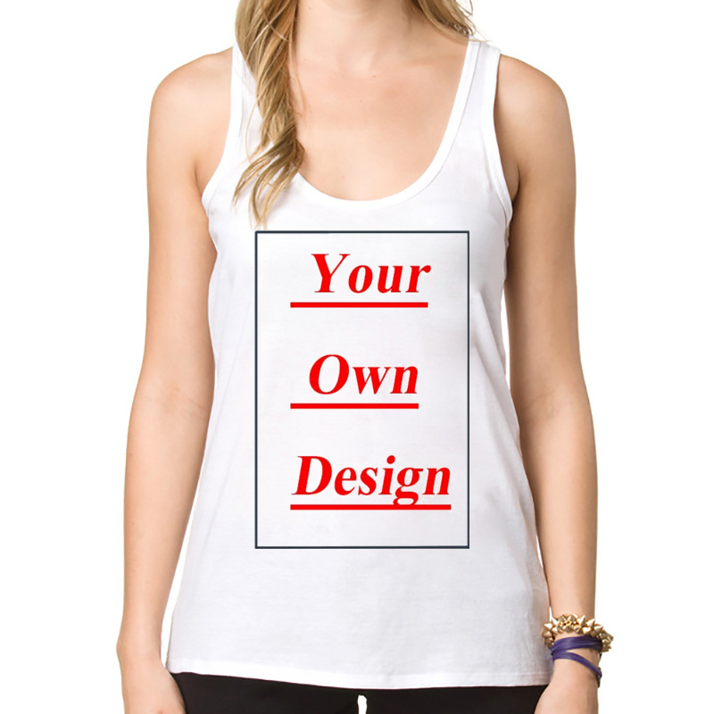 fcfbb3dd0e76a High Quality Customized Women Tank Tops Print Your Own Design Lady ...