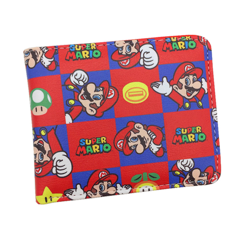 Free Shipping Super Mario World Wallet Cute Cartoon Comics Purse Student Short Game Wallet Credit Card Holder Anime Purse pixels pacman wallet 3d embossing short purse for student boy girls slim silicone wallet game cartoon designer wallet billeteras