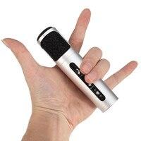 NUOVO Mini Tenuto in mano Portatile Microfono Karaoke KTV Mic Per iOS Per Android Per Windows Microfono 4 Colori Moda
