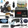 OPHIR Beginner Complete Tattoo Kit PRO LCD Power Supply 7 Colors Tattoo Inks 50pcs Nozzle Body Tattoo Art Equipment _TA002
