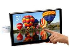 Nowy 5 cal 7 cal wyświetlacz TFT LCD pojemnościowy ekran dotykowy DSI złącze 800x480 dla Raspberry Pi 4 Pi 3 B +