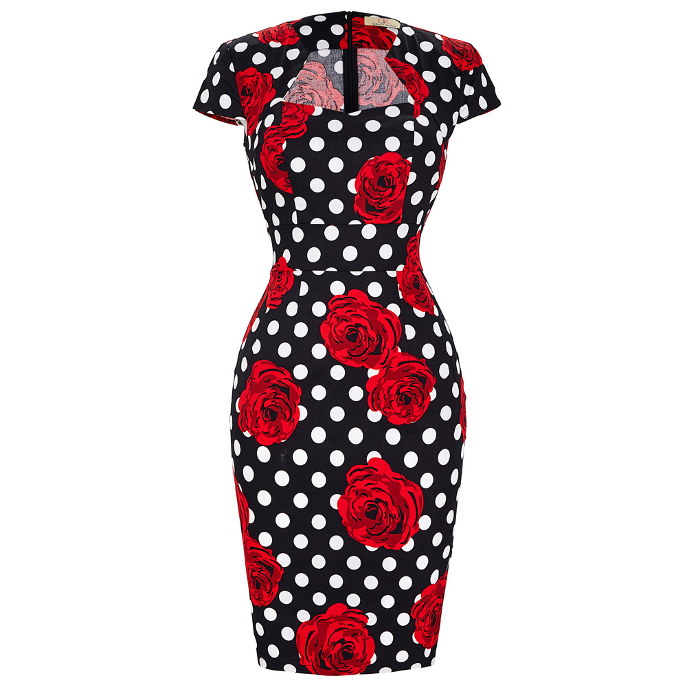 Summer Business Female Pencil font b Dress b font 2016 New Fashion Polka Dot font b