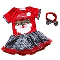 Santa Claus Baby Christmas Costume for Girls Clothing Sets Lace Tutu Dress Headband Kids Christmas Outfits Toddler Girl Clothing