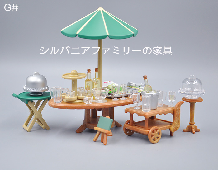 Japan Original Genuine Bulks Sylvanian Families Living Room Dining Table Restaurant Coffee Shop Full Sets Furniture Toy For Girl