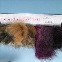 Off the shelf color tweezers dyed tip plush artificial faux fox fur fur collar coat fabric