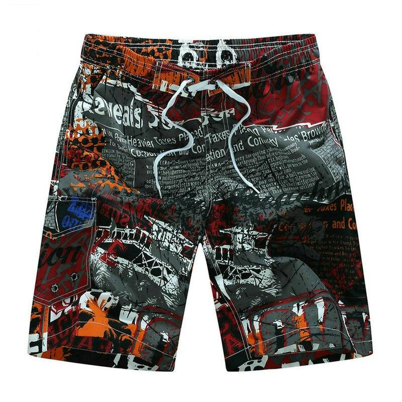 Vente chaude Impression Hommes Shorts Occasionnels D'été Mens Shorts de Plage (Taille M-5XL)