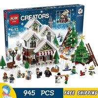 945ピースクリエーターエキスパート冬ホリデーおもちゃショップ39015モデル構築キットブロック子供家族で互換