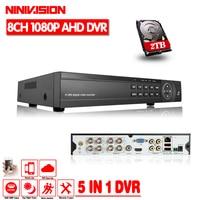 HD Hybrid 8CH AHD DVR 960P 720P 960H Analog DVR Support USB2 0 With 8channel AHD