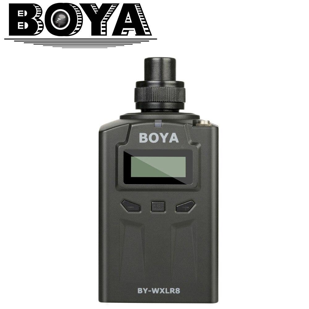 BOYA BY-WXLR8 émetteur Audio XLR enfichable avec écran LCD pour BY-WM8 BY-WM6 système de Microphone sans fil Lavalier