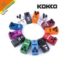 مؤثرات لجيتار من KOKKO ضاغط جوقة بدواسة لتشويه محرك الأقراص الفائق الداعم لفيبي فيبراتو حلقة ريفير فيزر موالف الجيتار بدواسة