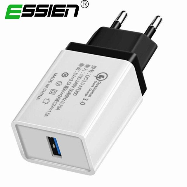 急速充電 3.0 2.0 USB EU プラグの充電器トラベル壁 5 V 3.5A 高速充電アダプタサムスン Xiaomi 錠携帯電話充電器
