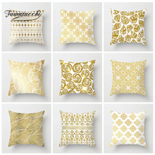 Fuwatacchi Printed Floral Cushion Cover Golden Hot  Pillow Home Sofa Chair Decorative Throw Soft Pillowcase