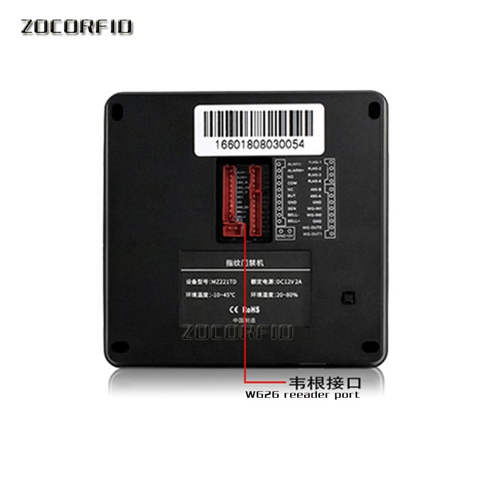 Купить с кэшбэком Boometric Fingerprint Door Access Control Color Screen Time Attendance With 125KHZ RFID Card Reader