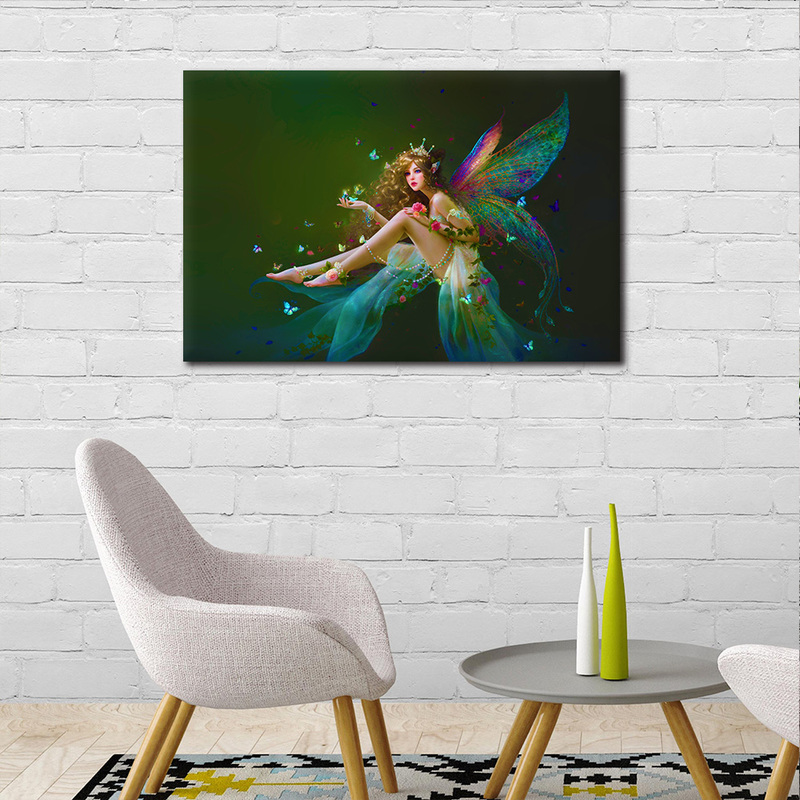 1 Pieces Canvas Painting Angel Girl Prints Posters Wall Art One Panel  Little Mermaid Canvas Prints Poster Artwork For Bedroom In Painting U0026  Calligraphy From ...