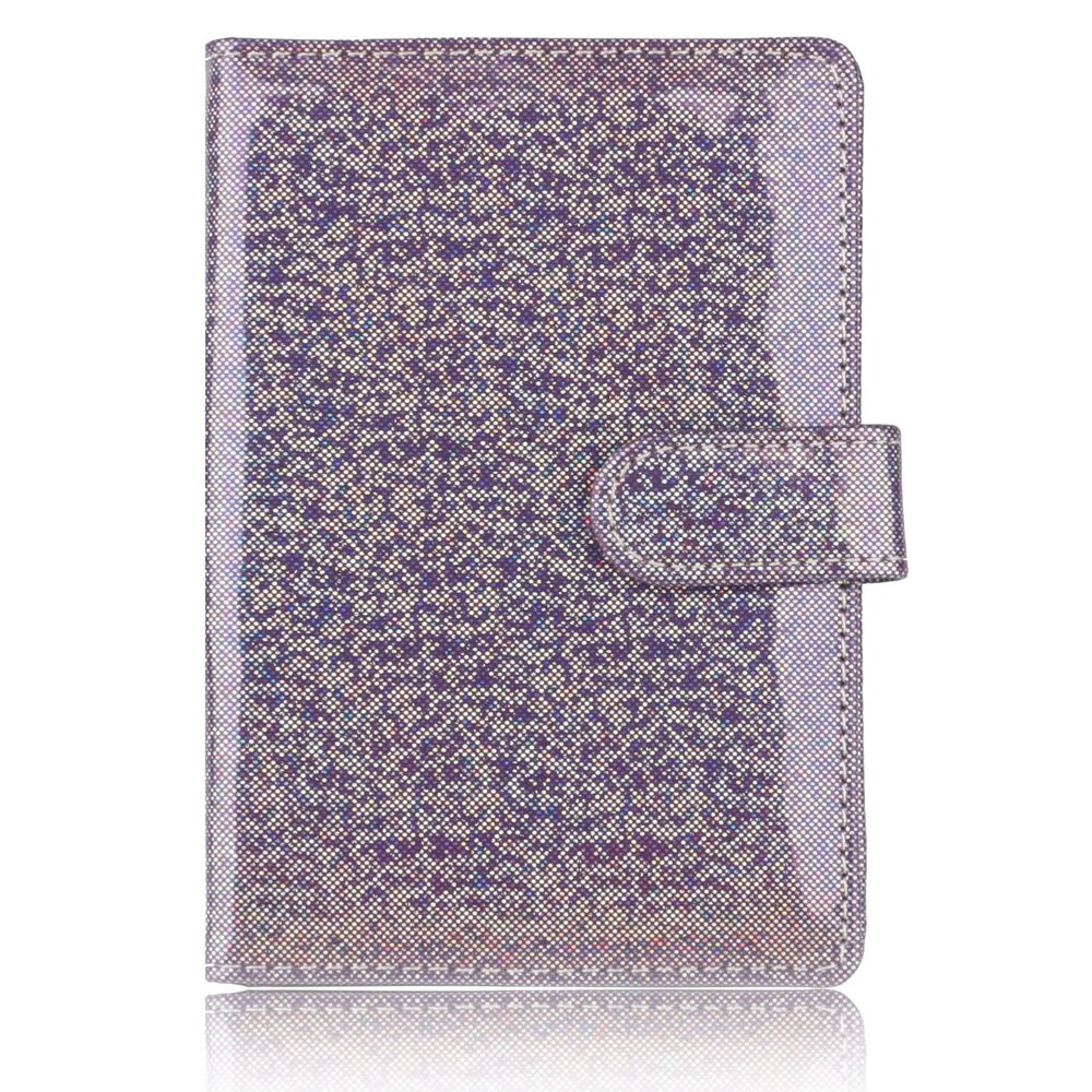 TRASSORY Men 39 s Women 39 s Sparkling Colorful Leather Passport Cover Holder Travel Accessory Lugguge Case with Snap in Card amp ID Holders from Luggage amp Bags