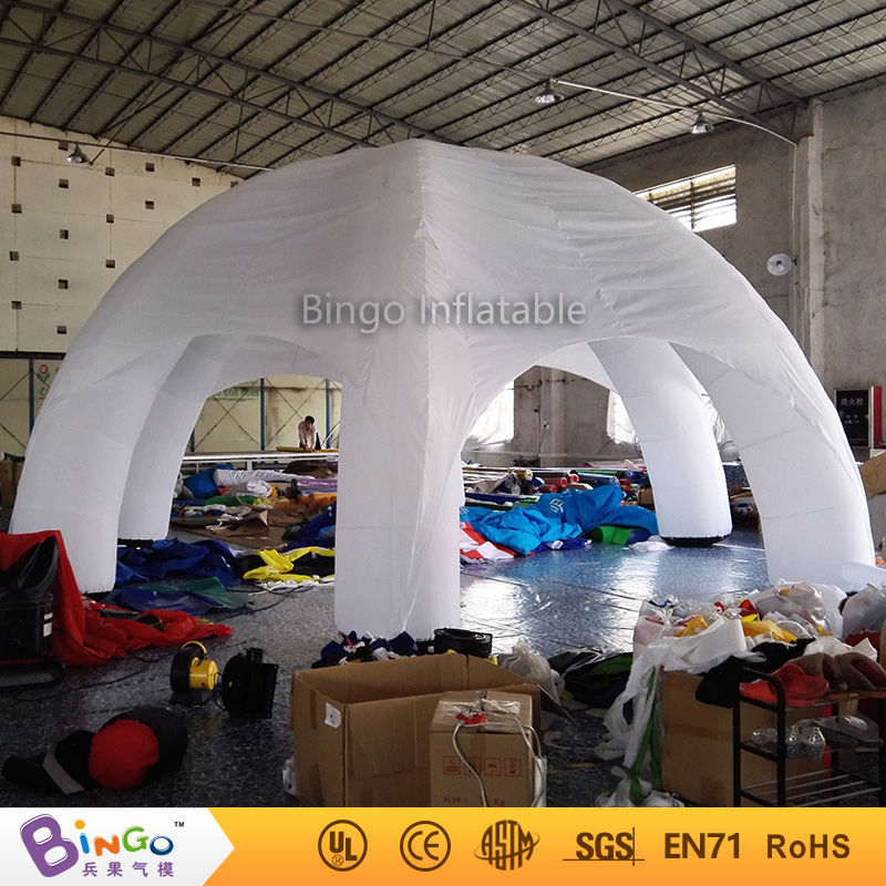 Free shipping 8 Meters dia Blow up white spider tent oxford nylon Inflatable camping canopy marquee toy tents for kids 8x4x3 5mwhite and sliver oxford cloth inflatable stage tent inflatable party tents for events free shipping