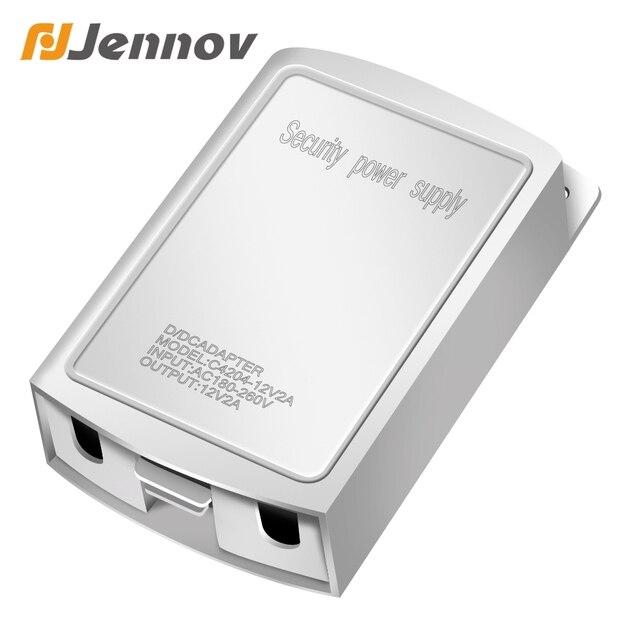 Jennov Adaptador de fuente de alimentación conmutada para cámara de seguridad CCTV, resistente al agua, para exteriores, 12V, 2A