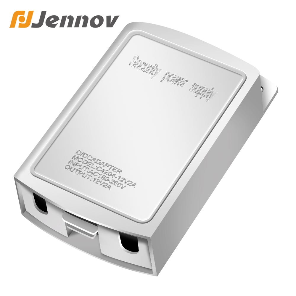 Jennov DC 12V 2A Outdoor Waterproof CCTV Security Camera Switching Power Supply Adapter Security Surveillance Fitting Power
