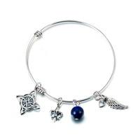 GNSZ8357 YFN 925 Sterling Silver Expandable Bangle Bracelet Fashion Jewelry Celtic Knot Wings Bracelet Charming Gift