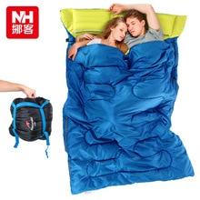 Naturehike спальный пара весной и летом теплая зима в помещении на открытом воздухе кемпинга взрослых спальный мешок с подушкой